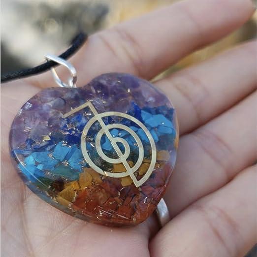 Orgone Heart Shape Pendant Chakras Stones Chakra Cleansing Pendant