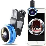 Mactrem Lenti Smartphone per Telefoni Cellulari Angolo 235 °, Occhio di Pesce, Fisheye, per iPhone 7/7 Plus / 6/6 Plus / 5S / 5, S Samsung Galaxy S6 Edge+ / S6 Edge / S6 / S5 / S4 / S3 HTC, Sony Xperia, Huawei ed altri Smartphone ecc.(Blu)