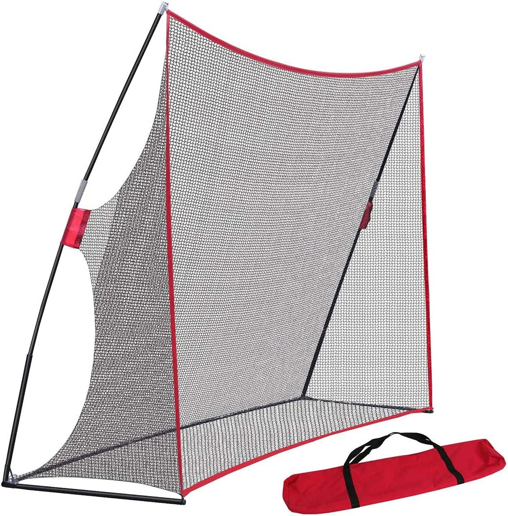 LYzpf Golf Net Hitting Foldable Training Tool Portable Practice Driving Range Aid Sports Equipment for Balls Indoor Outdoor Garden