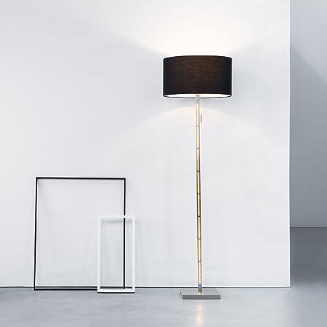 Lámpara de pie con tela, 1 x E27 Max. 60 W, zusätzl. 2 x 7 W ...