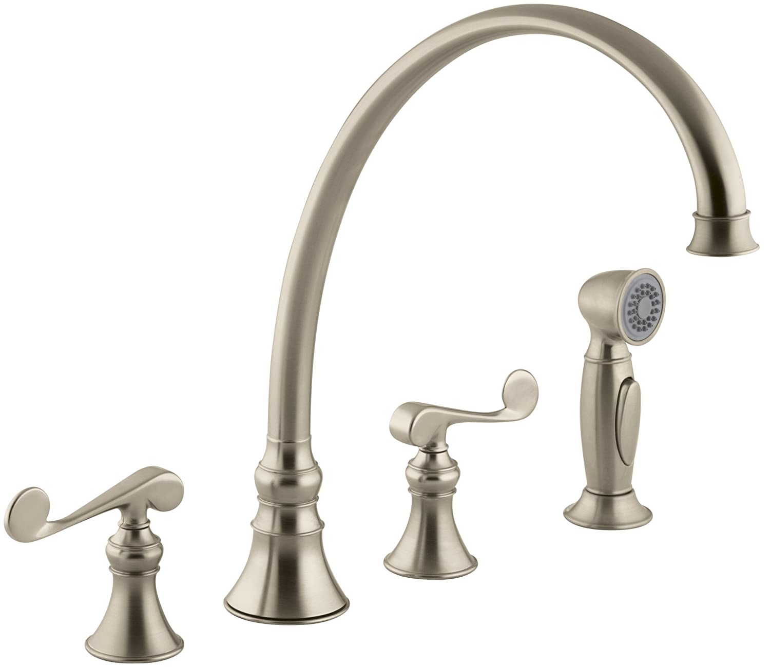 KOHLER K 4 CP Revival Kitchen Sink Faucet Polished Chrome