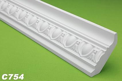 2 metros de poliuretano decorativo, perfil, decoración de pared para interiores, estucco,