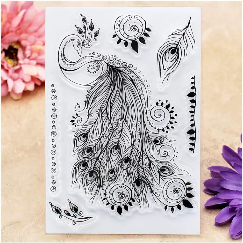 Kwan Crafts 2 Sheets Different Style Daily Life Pattern Clear Stamps for Card Making Decoration and DIY Scrapbooking