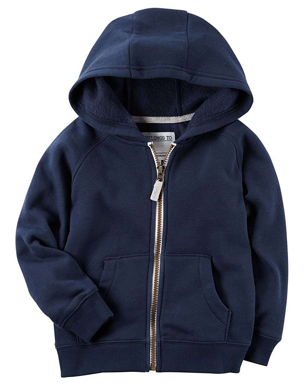 Carters Baby Boys Brushed Fleece Zip-Up Hoodie 6 Months Navy