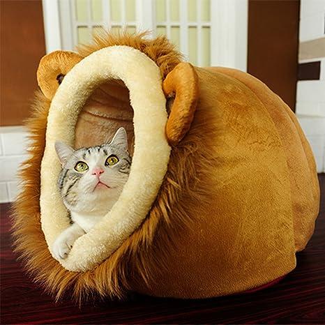 LA VIE Casa Adorable para Mascotas Casita Lavable para Cachorros Cueva Hideout para Gato Cesta Cama