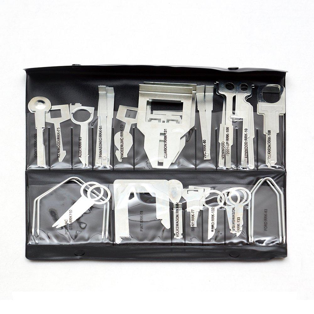 38Pcs Professional Stereo Removal Key Universal Car CD Radio Removal Keys Tool Set Kit