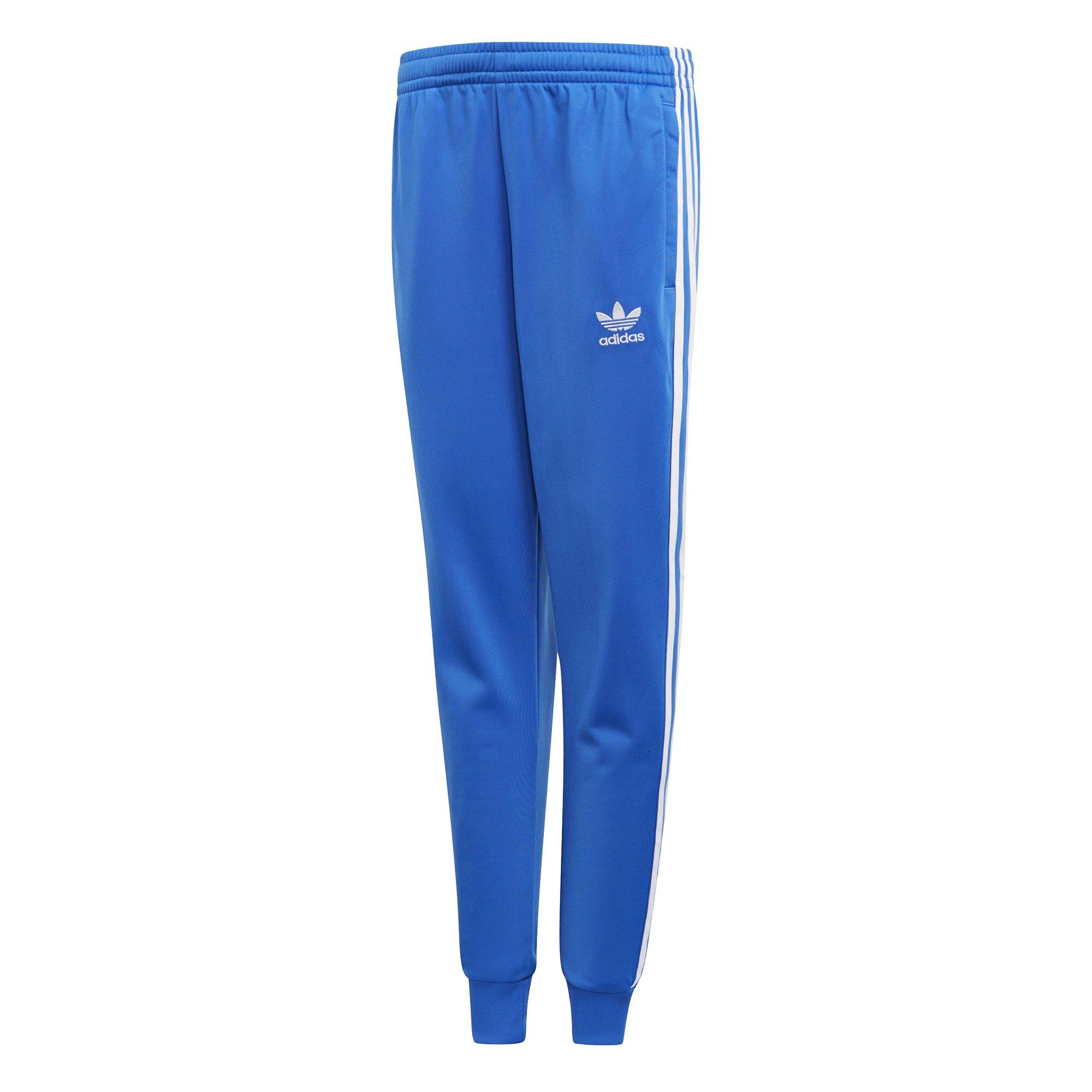 adidas Originals Boys' Big Originals Superstar Pants, Blue, L