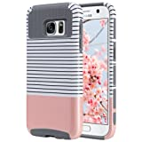 Amazon Price History for:S7 Case, Galaxy S7 Case, ULAK Hybrid Case for Samsung Galaxy S7 2016 Release 2-Piece Dual Layer Style Hard Cover ( Minimal Rose Gold Stripes+Grey) Will not Fit S7 Edge