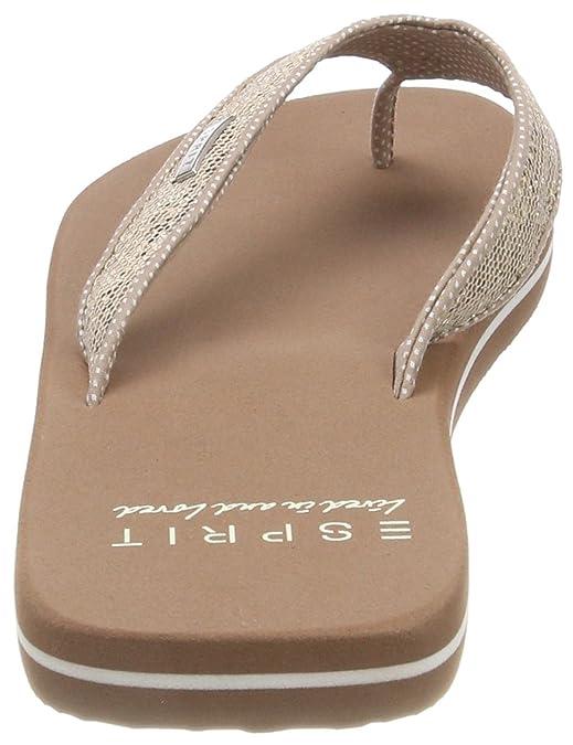 ESPRIT Damen Glitter Thongs Pantoletten, Beige (Cream Beige), 36 EU