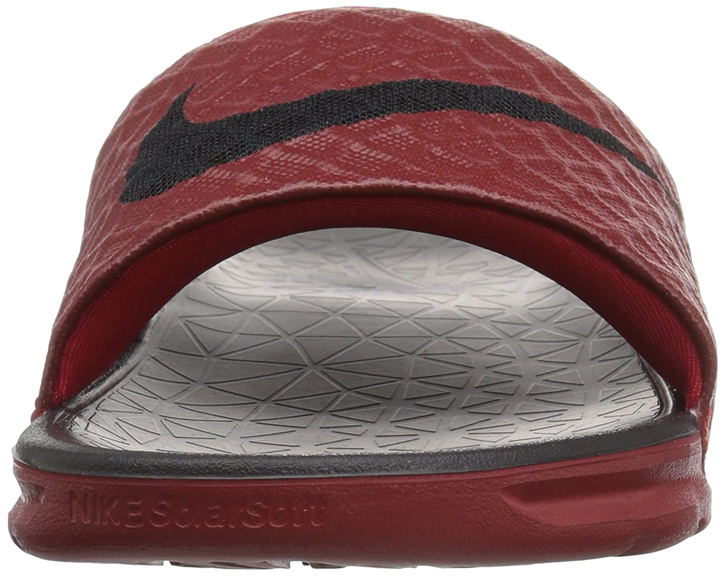 0816e936dfc3 Nike New Men s Benassi Solarsoft Slide Red Black 705474 600 size 16   Amazon.ca  Shoes   Handbags