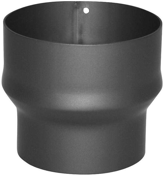 Kamino-Flam - Acero Adaptador de reducción para tubo de chimenea, Tubo reducción estufa, Chimenea reducción, Gris oscuro, Ø 150-180 mm/altura 132mm: ...