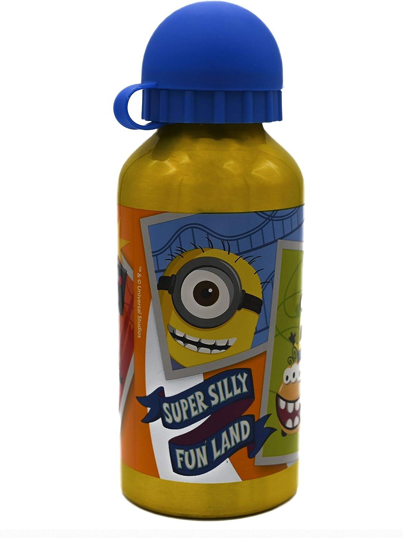 ML Botella de Agua de Aluminio para niños y niñas, 0.4 L cantimplora térmica a Prueba de Fugas sin BPA para Levar a la Escuela y Deportes el Termo/400 (Amarillo, 400ml)