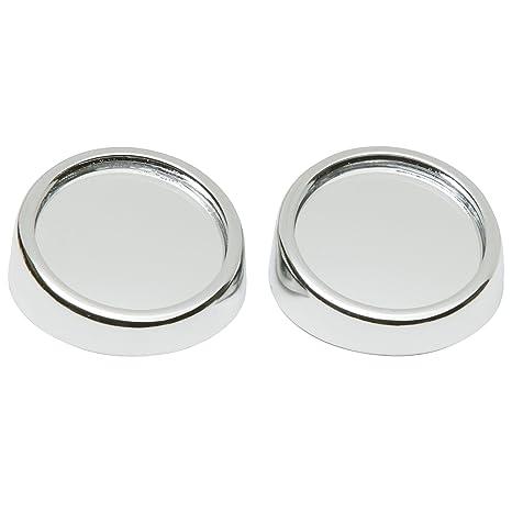 SUMEX 1035520 - Espejo Convexo Cromado Exterior, Angulo Muerto, 2 Unidades