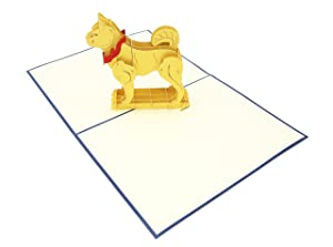 PopLife Happy Dog 3D Pop Up Card, 3D Card for All Occasions - Puppy Lovers Gift