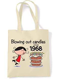 Blowing Out Candles Since 1968 50th Birthday Tote Shoulder Bag
