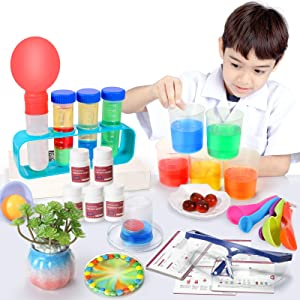 SNAEN Science Kit with 30 Science Lab Experiments,DIY STEM Educational Toys for Kids Aged 3 4+,Discover in Learning,Bottle Packaging
