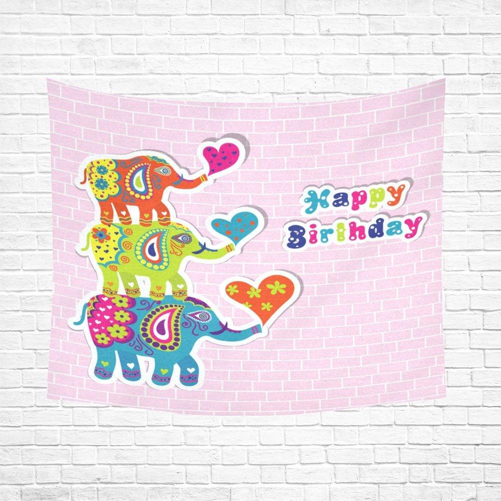 Feliz cumpleaños regalo globos elefante arte hippie tapices ...