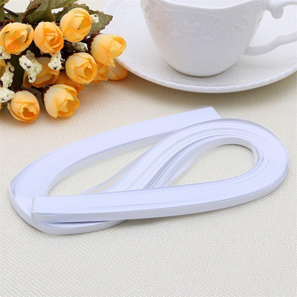 Juego de 120 tiras de papel de estraza de 5 mm de ancho y 54 cm de largo hojas de papel para manualidades 5 mm x 540 mm