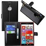 Guran® Housse En Cuir pour Nokia Lumia 1520 Smartphone Flip Cover Etui Debout Fonction et Fente Porte-cartes Cas - noir