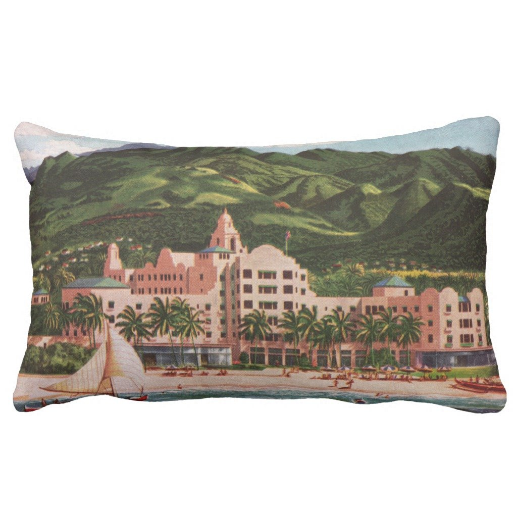 Zazzle The Royal Hawaiian Hotel Lumbar Pillow 13'' x 21''