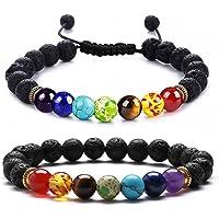 J.Fée Healing Gemstone Beads Bracelet Crystal Therapy Bracelet 8mm Round Semi Precious Beads Natural Crystal Bracelet