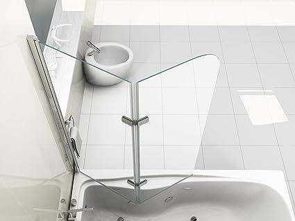 Vasca Da Bagno Bassa : Hnnhome pannello vasca da bagno doccia singolo in vetro mm