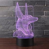 3D Lámpara de Escritorio Mesa 7 cambiar el