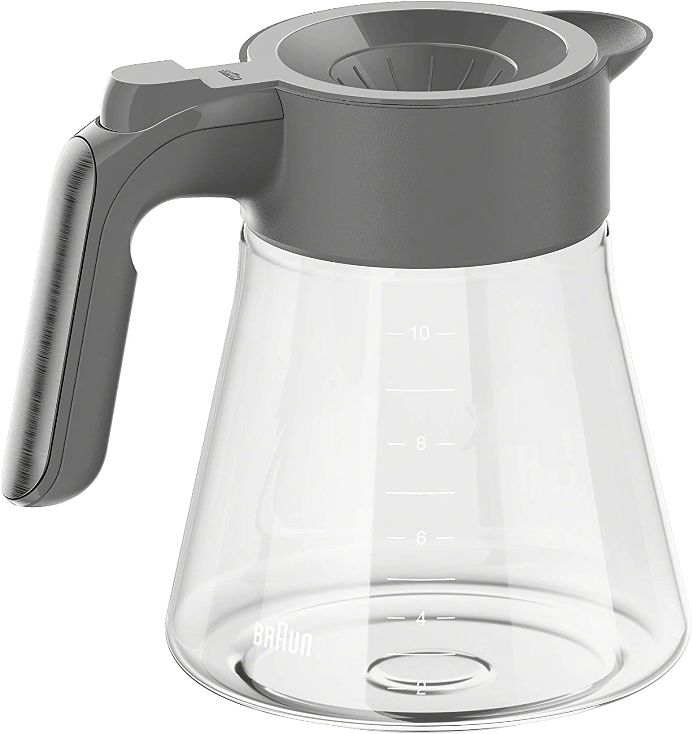 Braun BRSC009 MultiServe Coffee Machine 10 cup Replacement Carafe, Grey