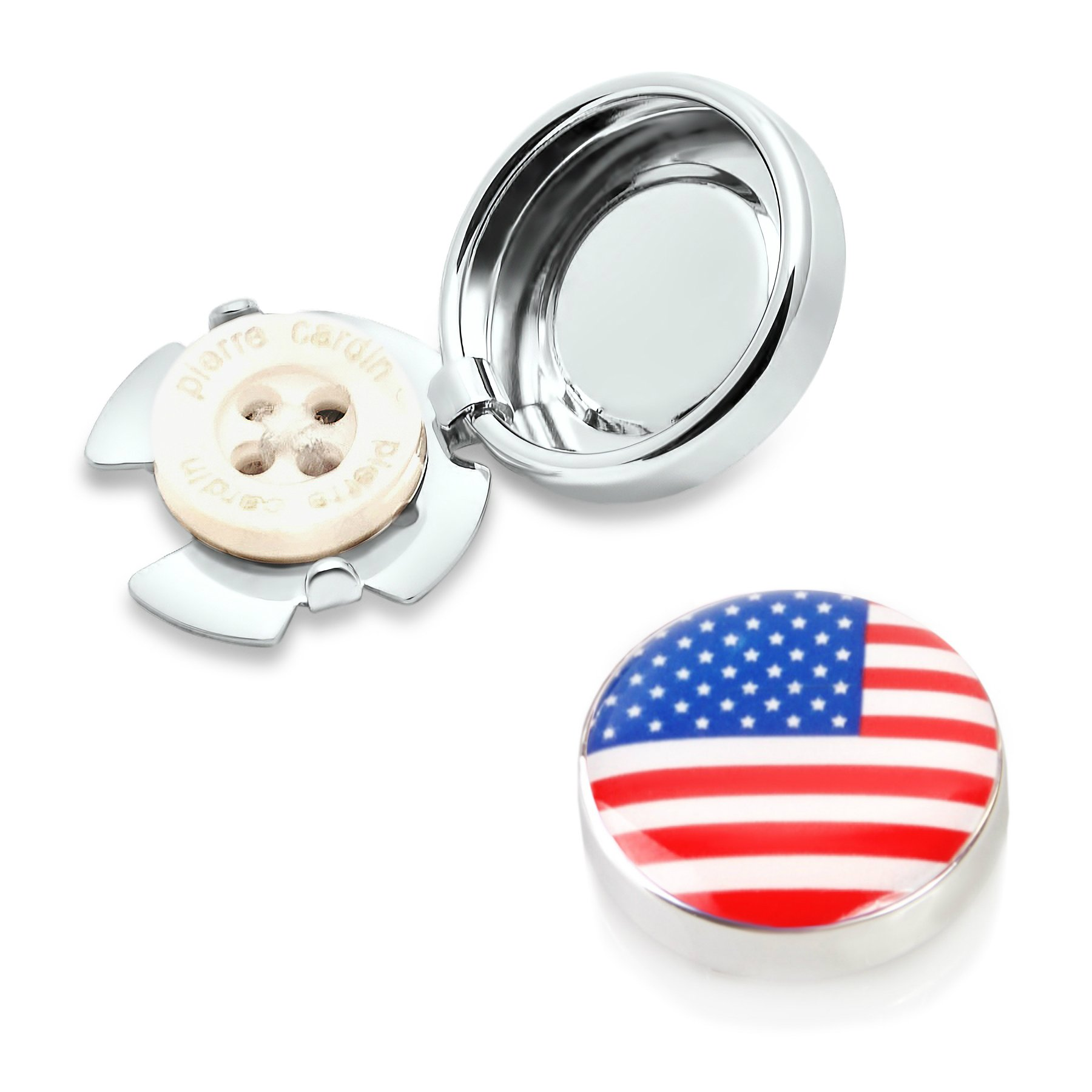 USA Flag Button Covers (one Pair)