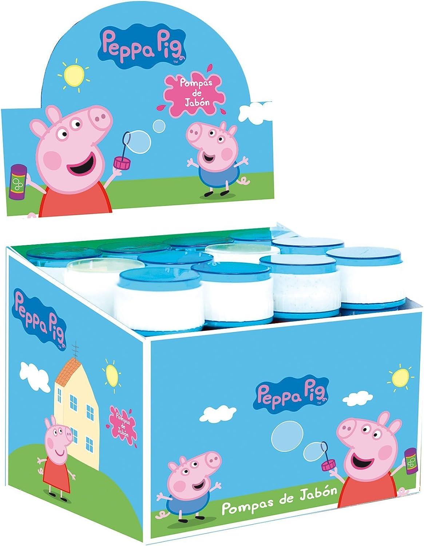 Peppa Pig Pompero caja de 12 unidades pompas de jabón 60 ml: Amazon.es: Juguetes y juegos