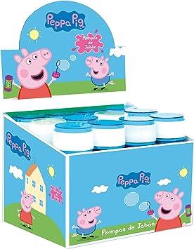 Peppa Pig Pompero caja de 12 unidades pompas de jabón 60 ml ...