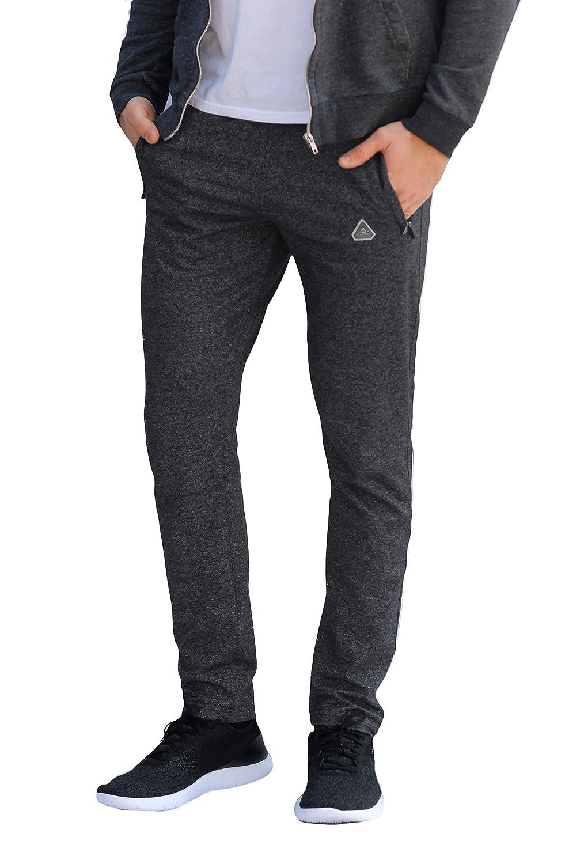 SCR Mens Workout Activewear Pants Athletic Sweatpants Long Inseam Black Grey Blue Navy 30L 32L 34L 36L 38L