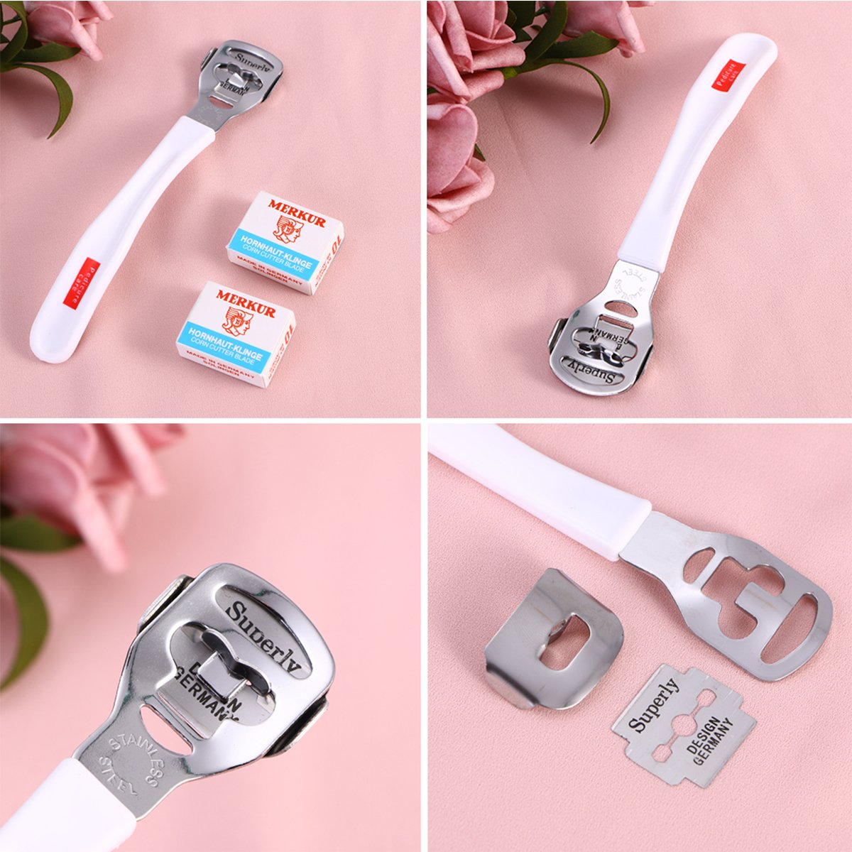 Foot Callus Remover Callus Shaver Cutter Hard Skin Remover Callus Remover Tool with 20 Blades