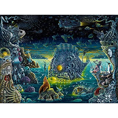 Classic Jigsaw Puzzle 1000 Piece Adult Children Puzzle DIY Dark Psychedelic Art Wooden Puzzle Modern Home Decor Festival Gift Intellectual Game: Toys & Games