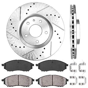 Rear OE Brake Calipers D//S Rotors /& Ceramic Pads For 2009-2017 Nissan Maxima