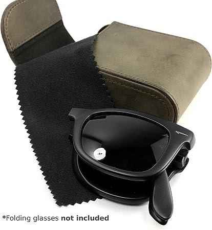 Tuff-Luv Western Genuine Cuero Funda para Gafas de Sol Plegable Ray-Ban Wayfarer- Marrón (Gafas de Sol no Incluidas): Amazon.es: Electrónica