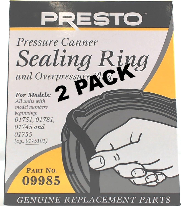 2 Pk Presto Pressure Cooker Sealing Ring Gasket 09909