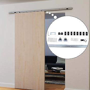 barn door hardware for kitchen cabinets interior sliding kit set silver kite instructions sale
