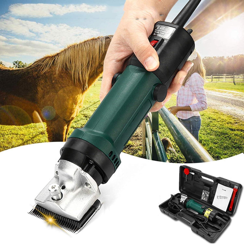 Esquiladora eléctrica profesional para caballos, maquinilla de caballo, 690 W y 6 velocidades ajustables, máquina de cortar pelo de animales, para animales de grano, pelo grueso y razas de pelo largo
