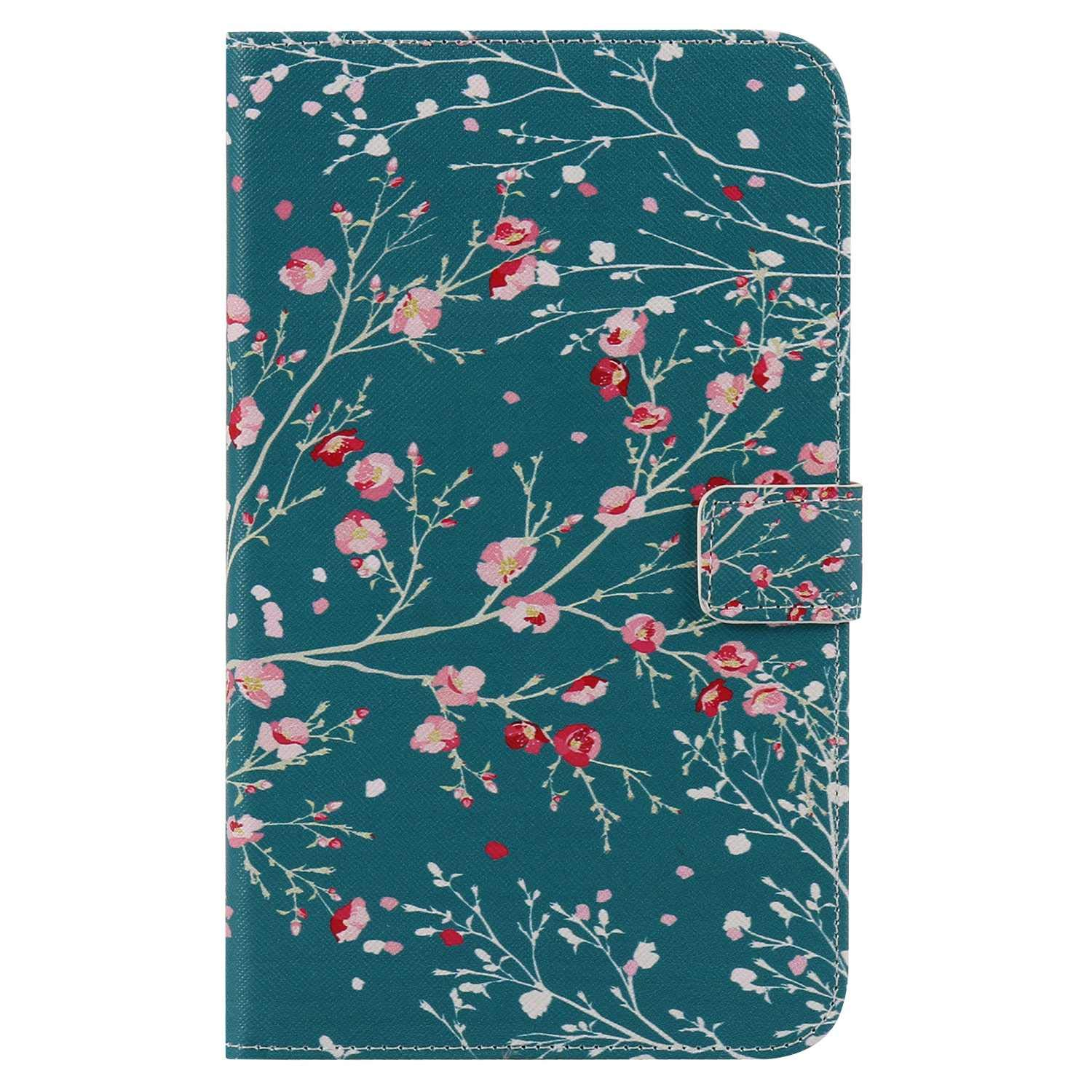 Bear Village Galaxy Tab 4 7.0 Inch Case, Anti Scratch Shell with Adjust Stand, Colorful Design Leather Stand Case for Samsung Galaxy Tab 4 7.0 Inch, Flower by Bear Village