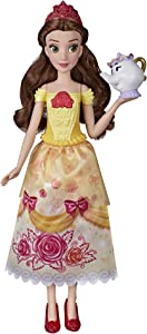 Disney Princess Shimmering Song Belle, Musical Fashion Doll, Toy with Removable Fashion, Mrs. Potts Sings Beauty and The Beast