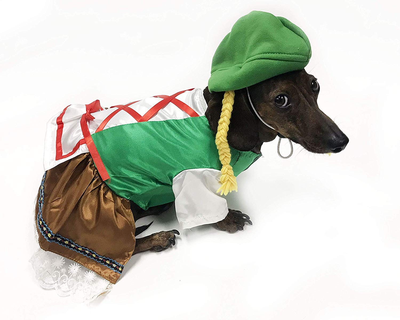 14\ Midlee Oktoberfest Dog Costume (Girl, 14  Back Length)