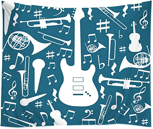 tappassier Glorafilia Hippie bohemio colcha Musical Guitarra Nota ...