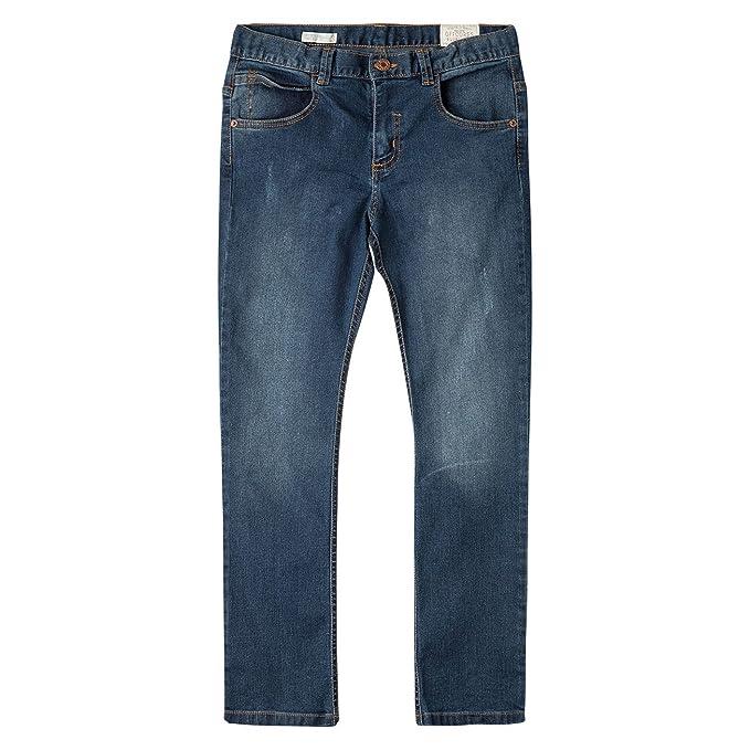 46a053ea9 OFFCORSS Big Boys Slim Fitted Zipper Long Pant Pantalones de Niño Grande  Blue 4