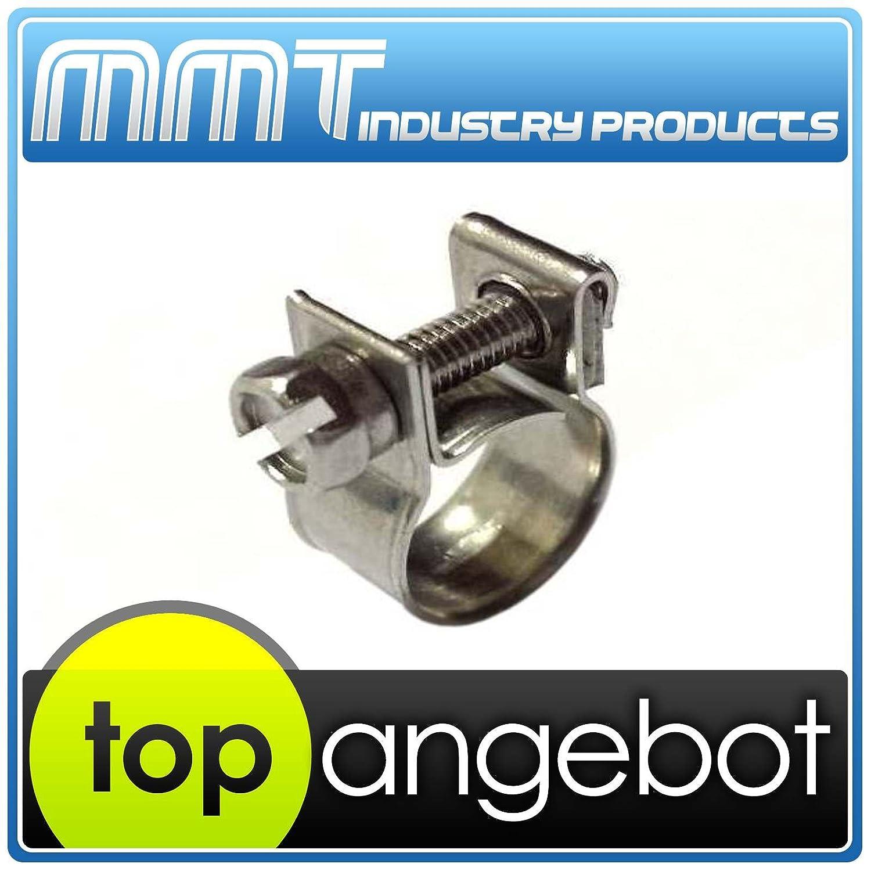 9-14 mm 50 St/ück Mini Schlauchschellen Edelstahl V2A DIN 3017 Auswahl