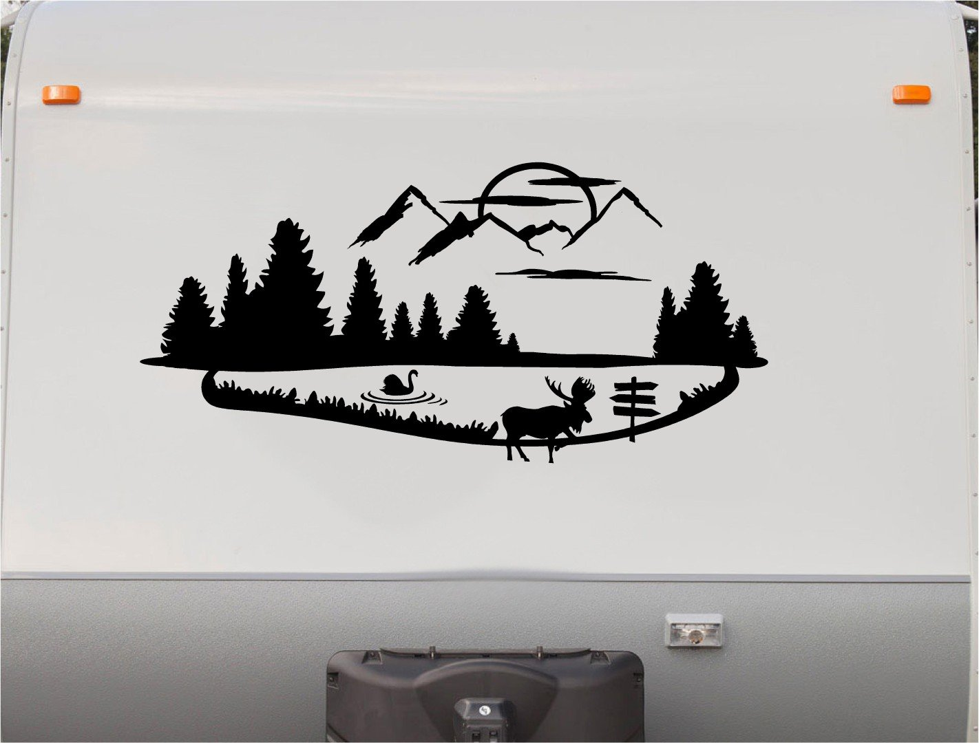 Amazon com moose swan mountains motorhome stripe kit cabin rv stickers trailer stickers camper vinyl decal sticker graphic motorhome decals rv