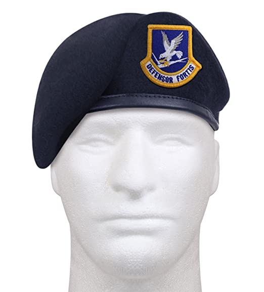 Amazon com: Rothco Inspection Ready Beret With USAF Flash - Midnight