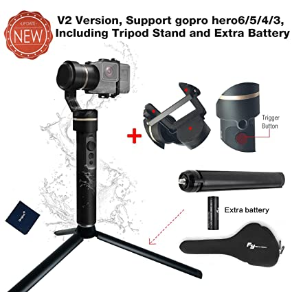 Feiyu G5 (Upgraded Version) 3-Axis Handheld Gimbal Action Camera Stabilizer  for GoPro Hero 6/5/4/3,Yi Cam 4K,SJCam, AEE and Action Cameras of Similar