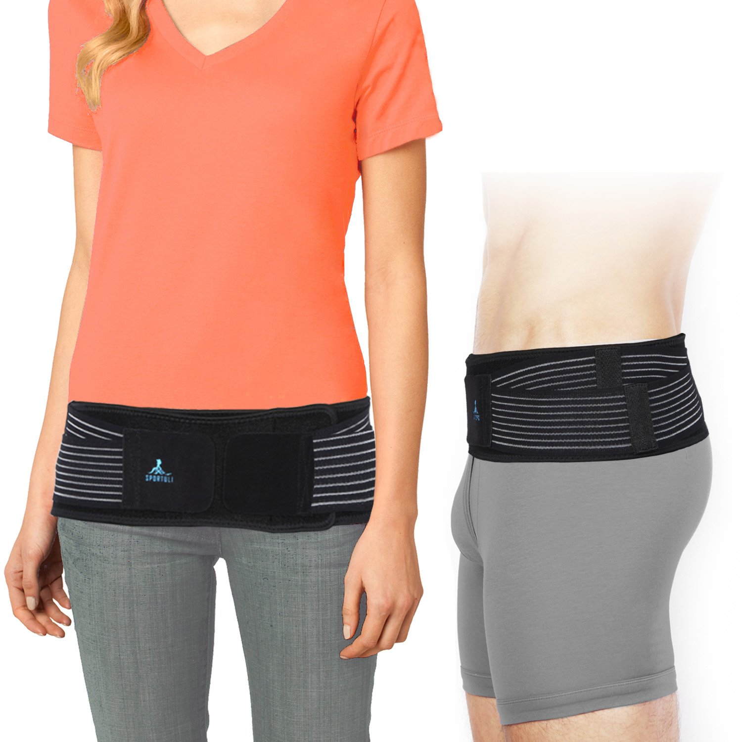 SI Joint Belt for Women and Men, Adjustable SI Belt for SI Joint Pain Relief, Sacroiliac Belt for Low Back Support Hip and Sciatica Pain, Diamond-Shaped Pressure Provides Compression and Stability