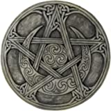 Moon Pentacle Plaque Stone Finish